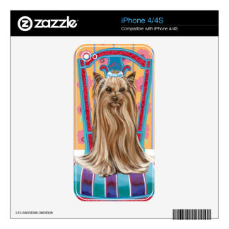 Crown Princess Yorkie Skins For iPhone 4S