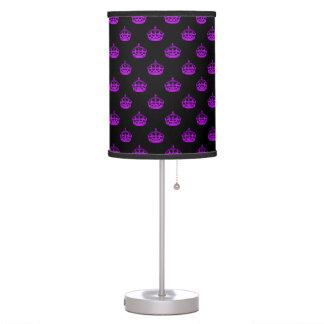 Crown Purple Table Lamp