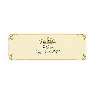 Crown Regency in Gold and Ivory Label