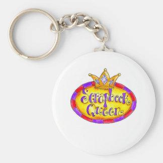 Crown Scrapbook Queen Basic Round Button Keychain