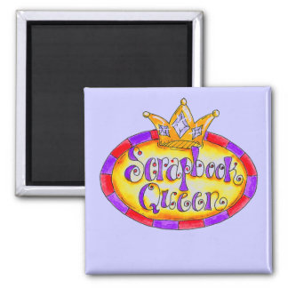 Crown Scrapbook Queen Tshirts and Gifts 2 Inch Square Magnet