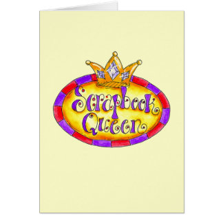 Crown Scrapbook Queen Tshirts and Gifts Card