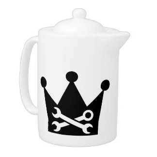 Crown screw wrench teapot