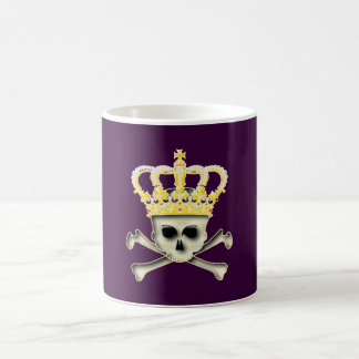 Crown skull head crown skull coffee mug