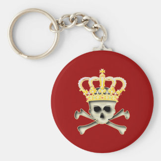 Crown skull head crown skull keychain