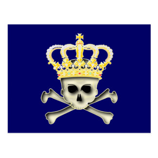 Crown skull head crown skull postcard