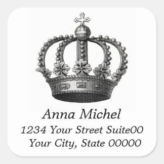 Crown Square Sticker
