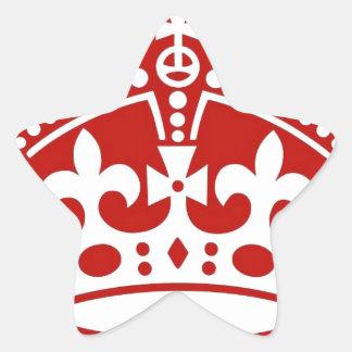 Crown Star Sticker