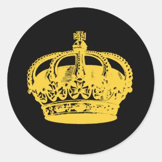 Crown Round Stickers