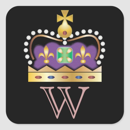 Crown Stickers with monogram
