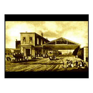 Crown Street Station, Liverpool, 1830 Postcard