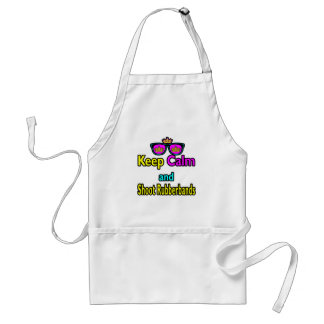 Crown Sunglasses Keep Calm And Shoot Rubberbands Adult Apron