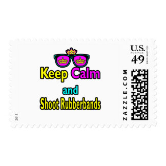 Crown Sunglasses Keep Calm And Shoot Rubberbands Postage