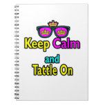 Crown Sunglasses Keep Calm And Tattle On Spiral Note Book