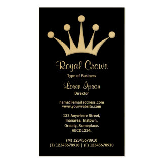 Crown Symbol - Black (Gold) Double-Sided Standard Business Cards (Pack Of 100)