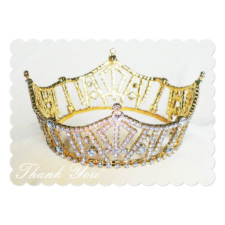 "Crown Thank You Card 5"" X 7"" Invitation Card"