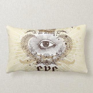 Crown The All Seeing Eye Lumbar Pillow