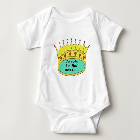 CROWN the KING OF the IDIOTS 1.PNG Baby Bodysuit