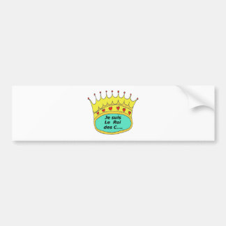 CROWN the KING OF the IDIOTS 1.PNG Bumper Sticker