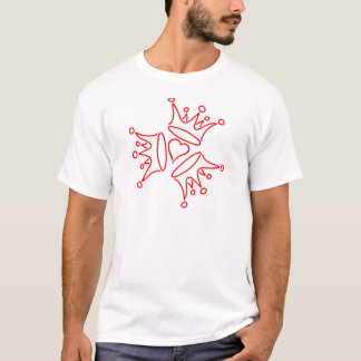 crown-three-heart T-Shirt