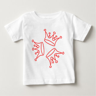 crown-three-red baby T-Shirt
