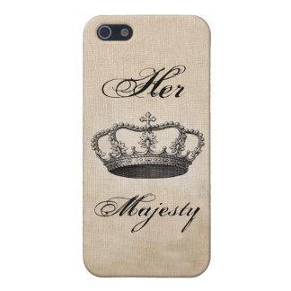 Crown Vintage Art Cover For iPhone SE/5/5s