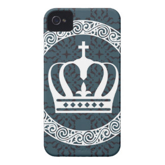 Crown White on Background Vector art iPhone 4 Case-Mate Cases