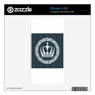 Crown White on Background Vector art iPhone 4 Skin