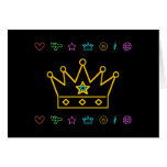Crown with Blue Star Greeting Cards