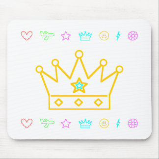 Crown with Blue Star Mouse Pad