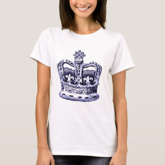 CROWN WITH FLEUR DE LIS AND CROSSES PRINT IN T-Shirt