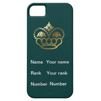 Crown, with Name, Rank and Number, hunter iPhone SE/5/5s Case