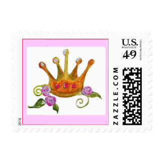Crown with roses Stamp