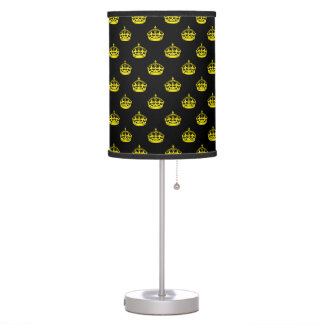 Crown Yellow Table Lamp