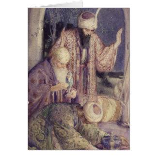 Crowned By Three Kings Vintage Christmas Card