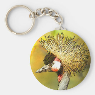 Crowned-Crane from JungleWalk Basic Round Button Keychain