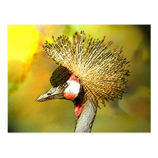 Crowned-Crane from JungleWalk Postcard