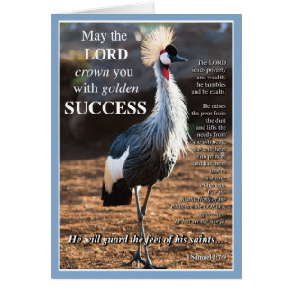 Crowned Crane Success Greeting Cards