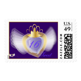 Crowned Heart Sweet Sixteen Postage-Customize Postage