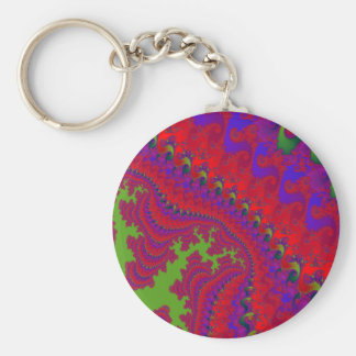 Crowned Jewel Fractal Art Keychain