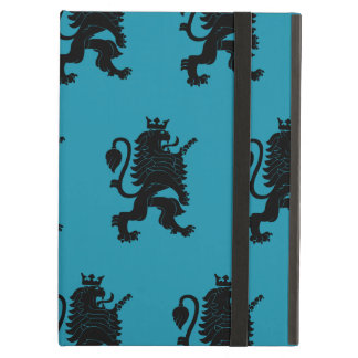 Crowned Lion Black Blue Cover For iPad Air