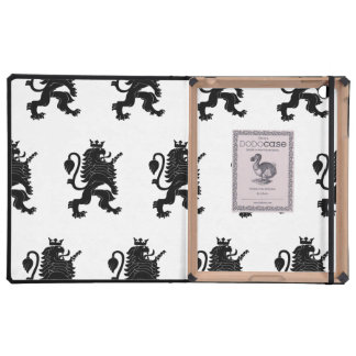 Crowned Lion Black iPad Covers