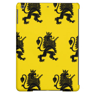 Crowned Lion Black Yellow iPad Air Covers