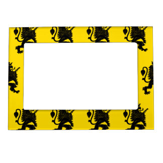 Crowned Lion Black Yellow Magnetic Photo Frame