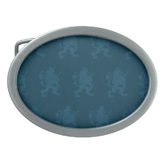 Crowned Lion Blue Belt Buckles