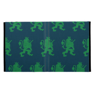 Crowned Lion Green Blue iPad Cases