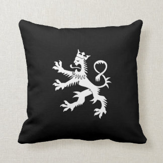 Crowned Lion Rampant Throw Pillow