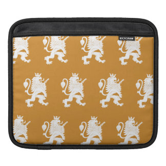 Crowned Lion White Orange Sleeve For iPads