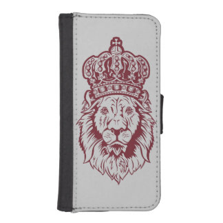 Crowned Lion's Head Phone Wallet Cases