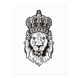 Crowned Lion's Head Post Card